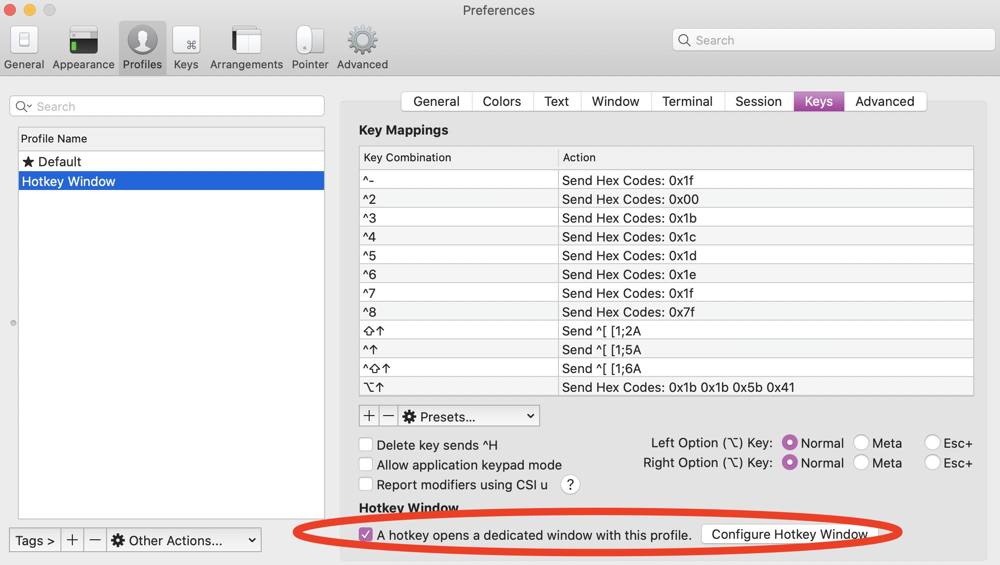 Configure Hotkey Screenshot